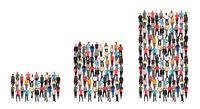 Menschen Gruppe Leute Erfolg Wirtschaft Wachstum Diagramm Gewinn Business Konzept