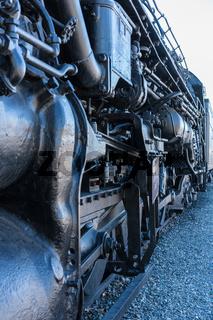 Santa Fe locomotive 5021 at Sacramento railroad museum