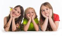 Three happy children