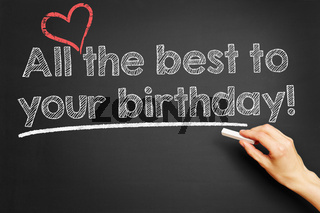 All the best to your birthday!