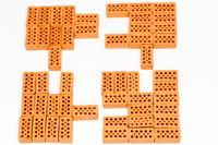 Puzzle aus Ziegelsteinen