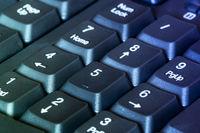 Close-up view of computer keyboard