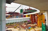Airport terminal construction site. Singapore