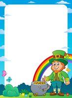 Leprechaun theme frame 1