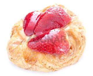frischer Erdbeerplunder