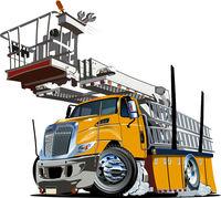 Cartoon Platform Lift Truck