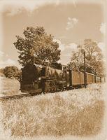 historische Dampfeisenbahn auf der Insel Ruegen,Ostsee,Mecklenburg-Vorpommern,Deutschland