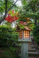 Lamp in Jojakko-ji temple, Kyoto, Japan