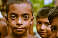 Boy with big eyes in Bangladesh