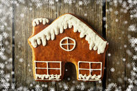 Christmas homemade gingerbread house cookie