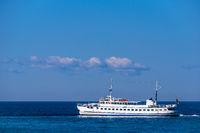Ein Schiff auf der Ostsee vor Kühlungsborn