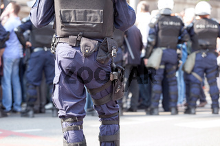 Police officer on duty. Counter-terrorism.