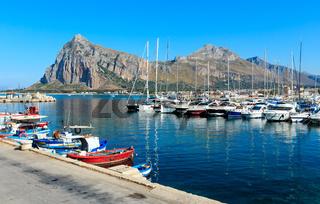 San Vito lo Capo port, Sicily, Italy