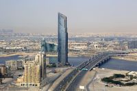 Dubai D1 Tower Business Bay Bridge Luftaufnahme Luftbild