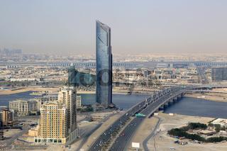 Dubai D1 Tower Business Bay Bridge Luftaufnahme Luftbild