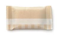 Top view of brown paper sachet
