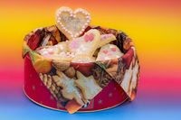 Sweet Christmas Cookies in heart shape