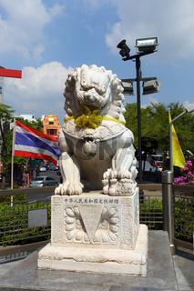 Sculpture of lion in Bangkok