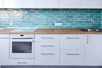 Modern white kitchen furniture