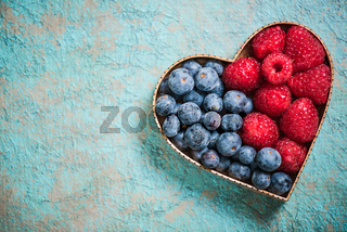 Love for healthy food concept isolated on white