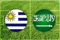Uruguay vs Saudi Arabia football match