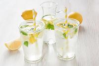 Fresh lemon water drink