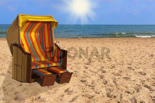 Ostseestrandkorb   Baltic Sea beach chair