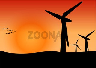 Alternative Energie mit Windkraftwerk