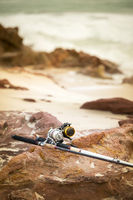 Fishing Rods On Beach