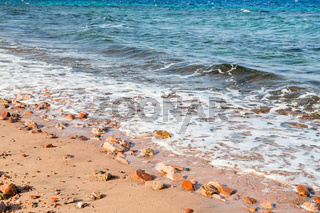 beach of Gulf of Aqaba on Red Sea in morning