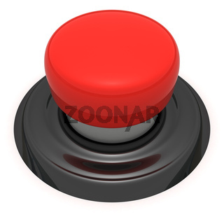 Red push button isolated on the white background