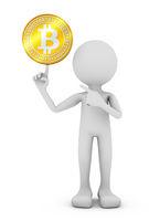 man with bitcoin