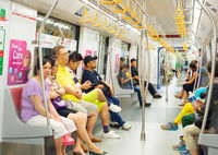 People travel metro train. Singapore