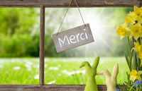 Window, Green Meadow, Merci Means Thank You