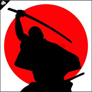 Martial arts. Karate fighter silhouette scene.
