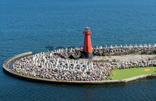 Lighthouse at entrance to Nowy Port Gdansk