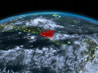 Nicaragua from space at night