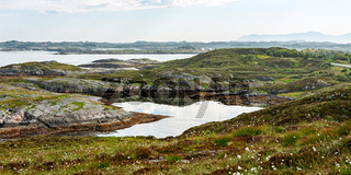 Panorama from the Atlantic road, Norway