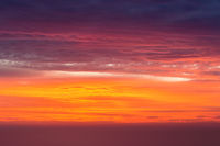 sunset glow sky