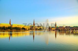 Cityscape of Hamburg, Germany