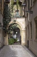 Gasse in Verona, Italien