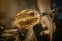 Work of Glass Blower