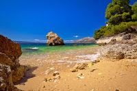 Sand beach in Brela view