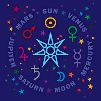 The Septener. Star of The Magicians. Seven planets of Astrology.