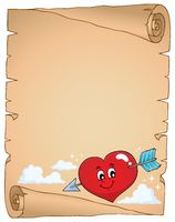 Valentine heart topic parchment 2