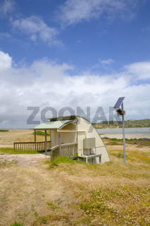 Stock Photo Solar Powered Bush Toilet