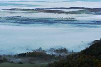 Morgennebel auf der Schwaebischen Alb