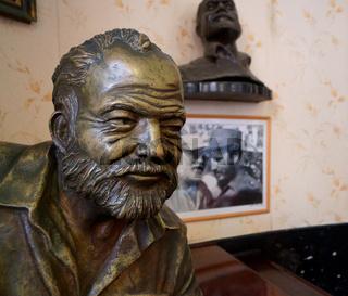 Hemingway Statue,Floridita Bar,Havanna