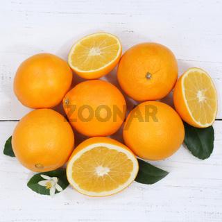 Orangen Orange Früchte Quadrat von oben
