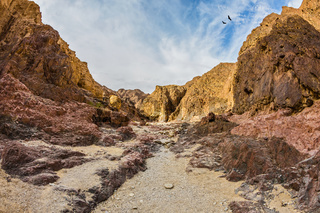 The Black canyon in mountains of Eilat